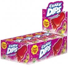 crazy dips morango cx 24