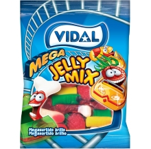 mega jelly mix sortido brilho 100g cx 14