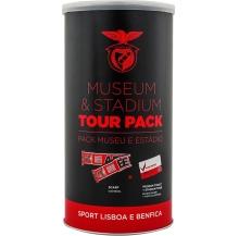 pack benfica: bilhete p/ visita estádio e museu + cachecol