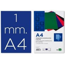 capa encad. a4 cartão azul c/ 50