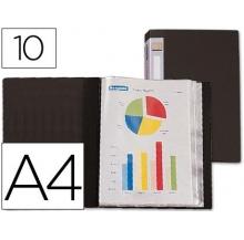 capa catálogo a4 c/ 10 bolsas