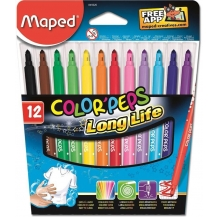 canetas feltro color peps long life (12)