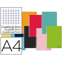caderno espiral a4 quad.