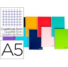 caderno a5 espiral 80 fls quad.