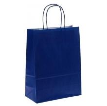 saco kraft azul 22x10x29 cx 50