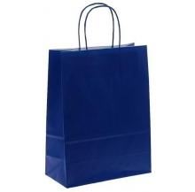 saco kraft azul 27x12x37 cx 50