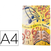caderno ed. musical a4 20 fls