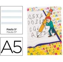 caderno caligrafia agraf. 2 linhas a5 28 fls