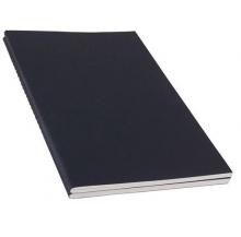 caderno capa preta a5 quad.