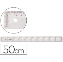 régua plástico 50 cm
