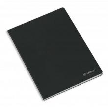 caderno agraf. capa preta a5 quad.