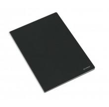 caderno agraf. capa preta a4 quad.