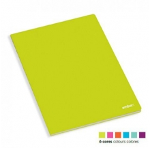 caderno agraf. a4 60 fls school paut. cores sort.