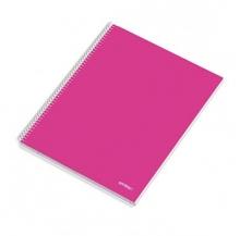 caderno esp. 120 fls a4 paut. cores sort.