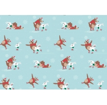 papel fantasia natal urso/coelho cx 25