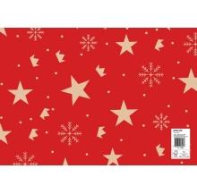 papel fantasia natal estrelas cx 25