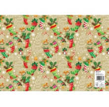 papel fantasia natal meias cx 25