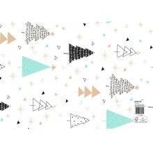 papel fantasia natal branco árvores cx 25