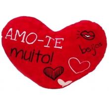 almofada coração vermelha 60cm cx 4