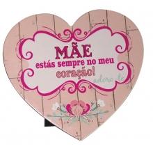 placa rosa coração mãe cx 6