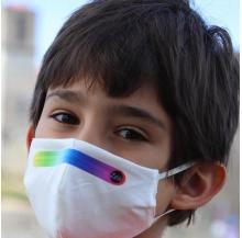 máscara reutilizável 100% algodão criança nível 2 pk 10