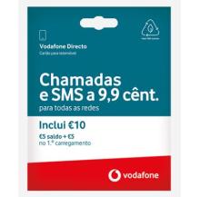 cartão vodafone directo 5€ cx 4